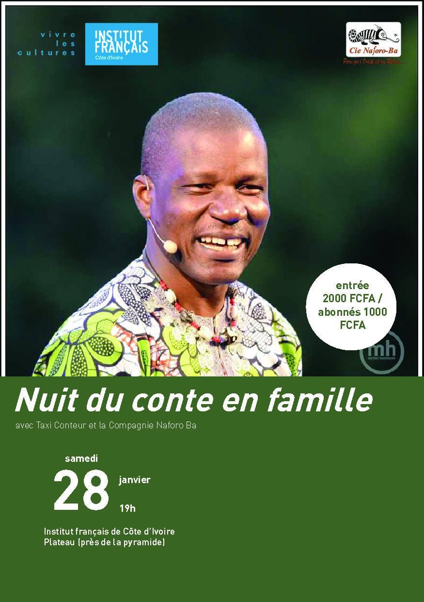 Les Nuits du Conte en Famille 2017 débute ce samedi 28 janvier 2017 à 19h00 à IFCI avec Taxi Conteur - Source : IFCI