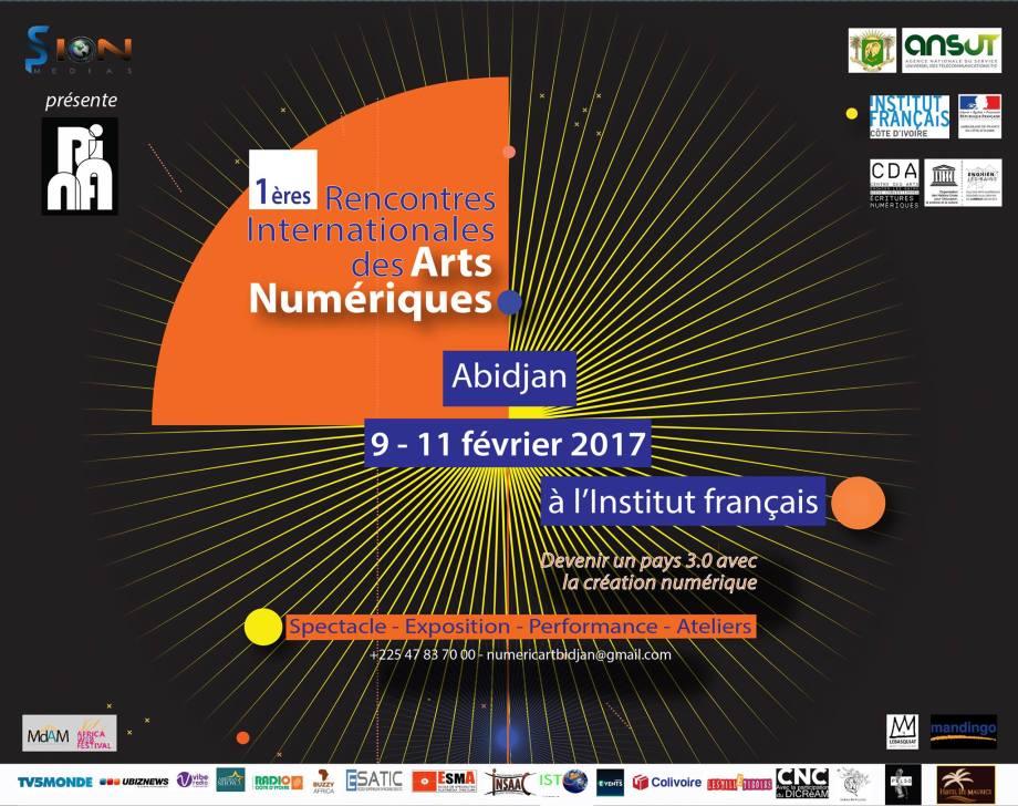 #RIANA2017  - 1ères Rencontres Internationales des Arts Numériques à Abidjan