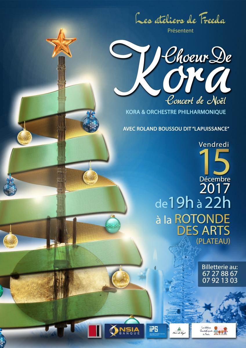 Choeur de Kora - Concert de Noël ce vendredi 15 décembre 2017 à 19h à La Rotonde des Arts