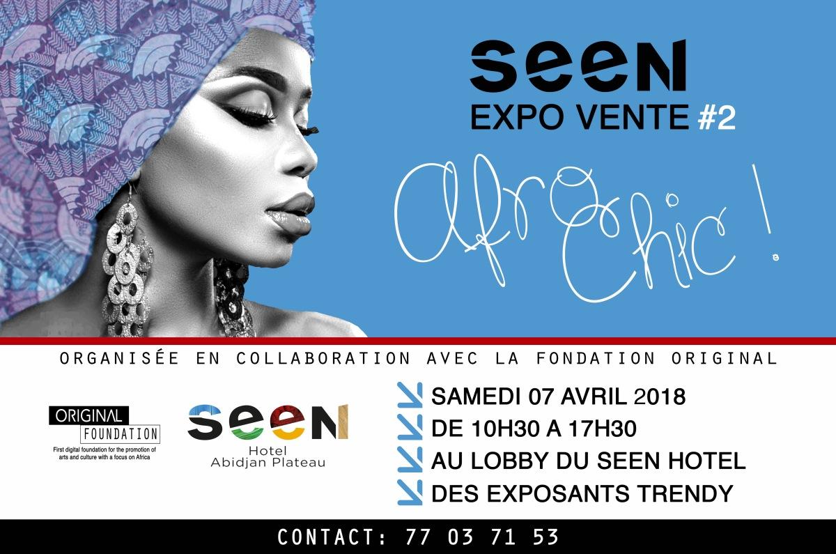 Seen Expo Vente Afro Chic #2 , ce samedi 7 avril 2018 de 10h30 à 17h30 au Seen Hotel Abidjan Plateau